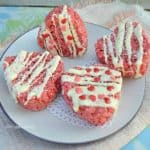 Strawberry Krispie Hearts