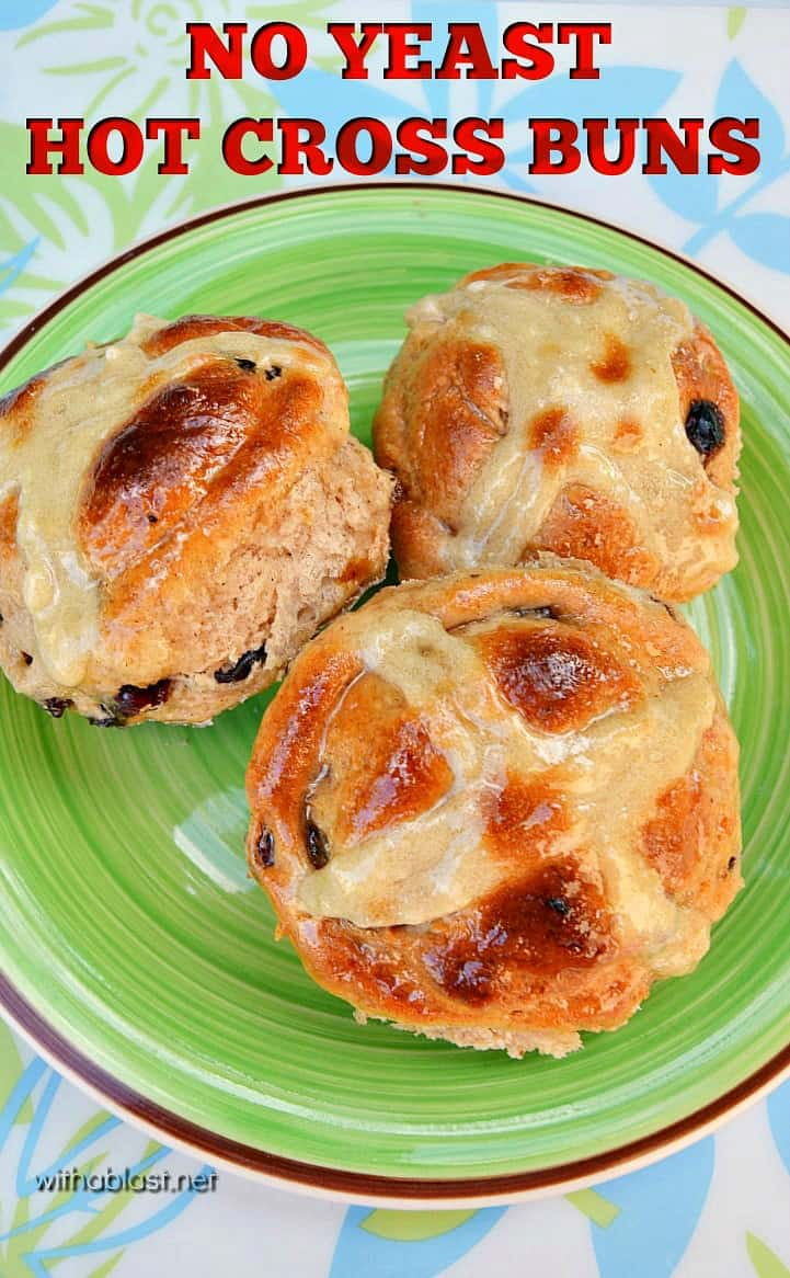 No Yeast Hot Cross Buns