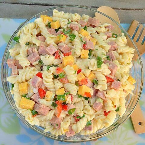 Ham and Cheese Pasta Salad