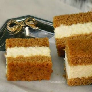 Ginger Cake with Creamy Lime Filling
