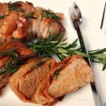 Pork Tenderloin with Bacon and Rosemary