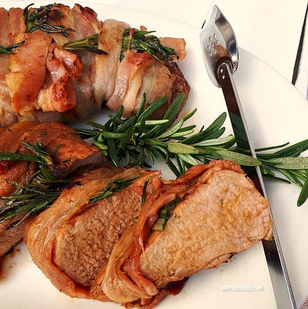 Pork Tenderloin with Bacon and Rosemary