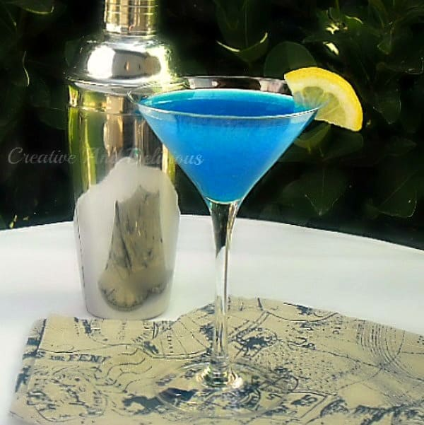 Blue Devil ~ Refreshing Cocktail with a delightful kick ! #BlueDevil #Drinks #Alcoholic