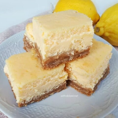 Light Lemon Cheesecake Bars