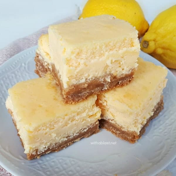 Light Lemon Cheesecake Bars