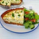 Zucchini And Pesto Savory Cheesecake