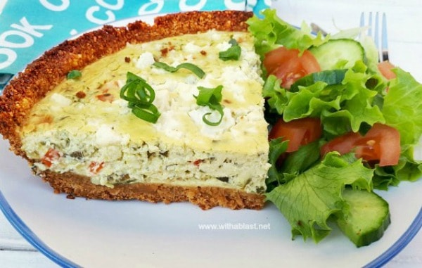 Zucchini And Pesto Savory Cheesecake