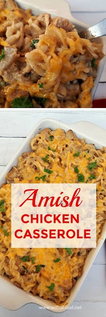 You have to try this Amish Chicken Casserole ! Economical and delicious (as all Amish recipes tend to be !)