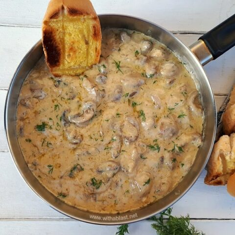 Creamy Dill Mushrooms