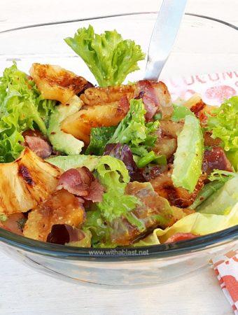 Pineapple Honey-Bacon and Avocado Salad