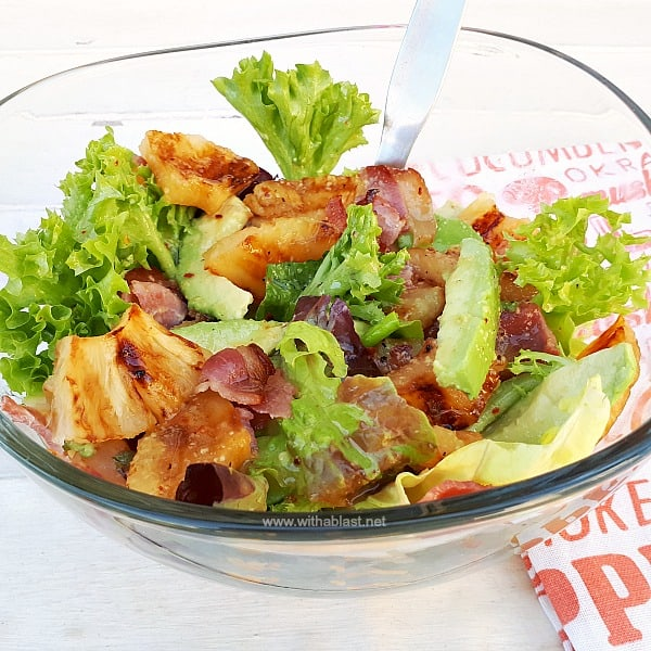 Pineapple Honey-Bacon and Avocado Salad