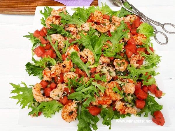 Shrimp Salad with Spicy Watermelon Salsa