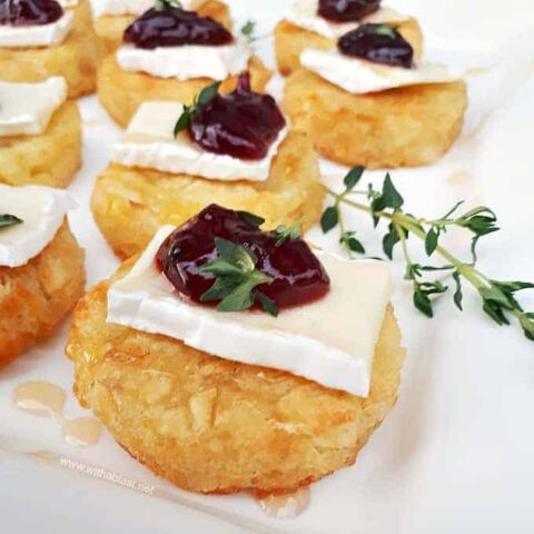 Brie and Sour Cherry Rosti