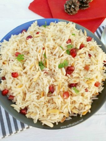 Pomegranate Almond Rice (Christmas Rice)