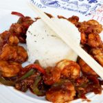 Sweet And Sour Prawns With Sticky Rice