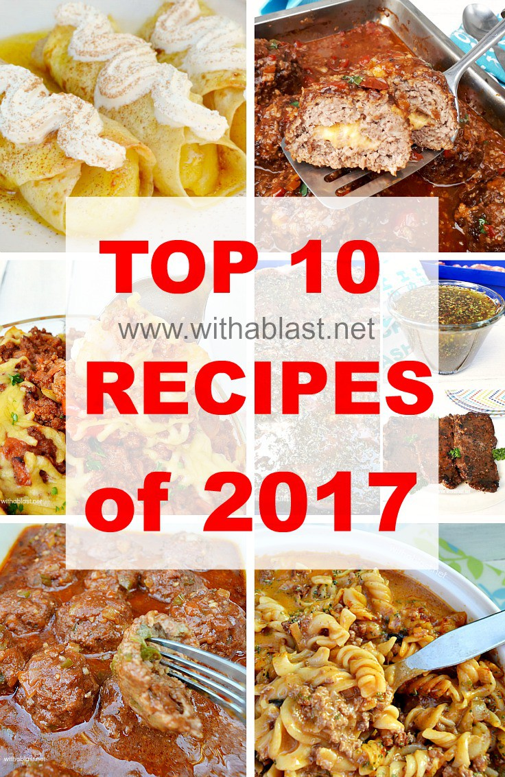 Top 10 Recipes most read in 2017 !