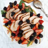 Balsamic Roasted Pork and Berry Salad