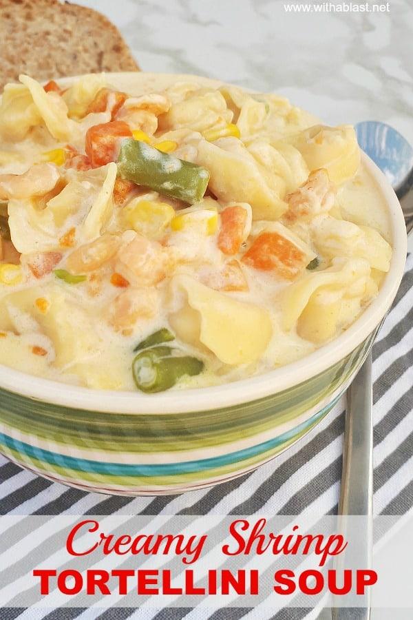 Creamy Shrimp Tortellini Soup
