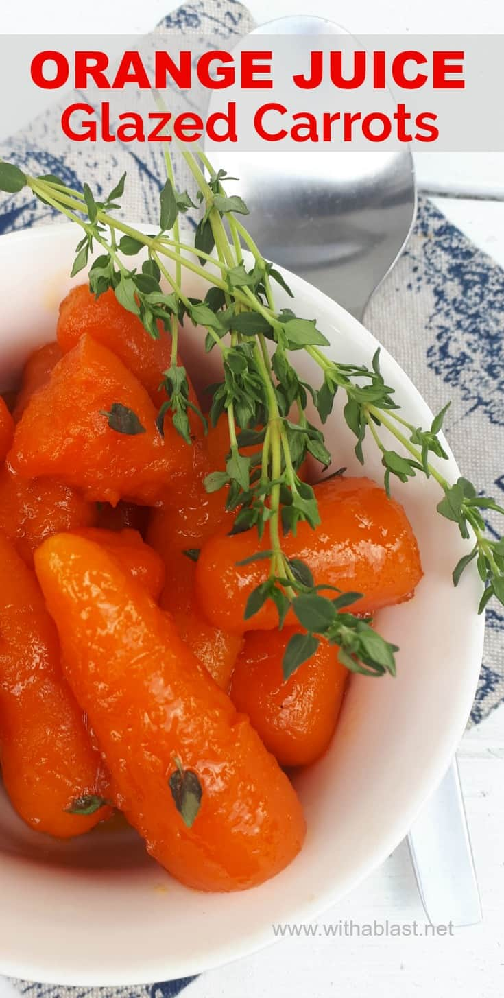 Orange Juice Glazed Carrots