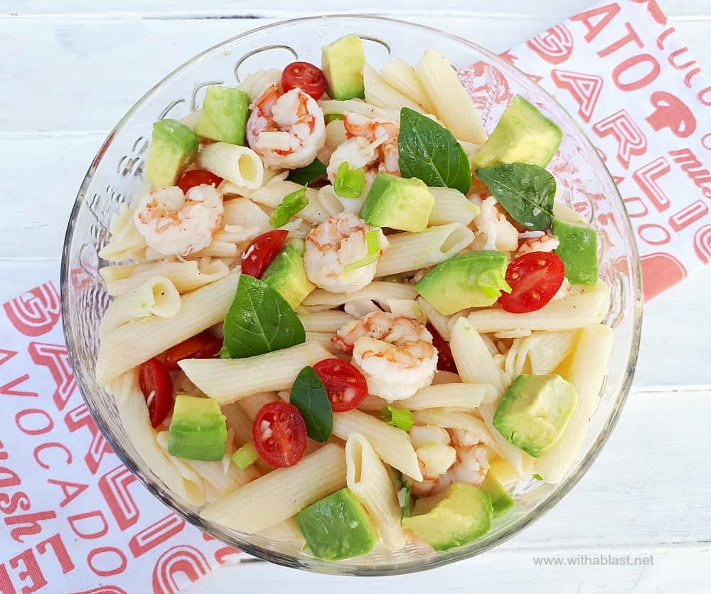 Shrimp Avocado Pasta Salad