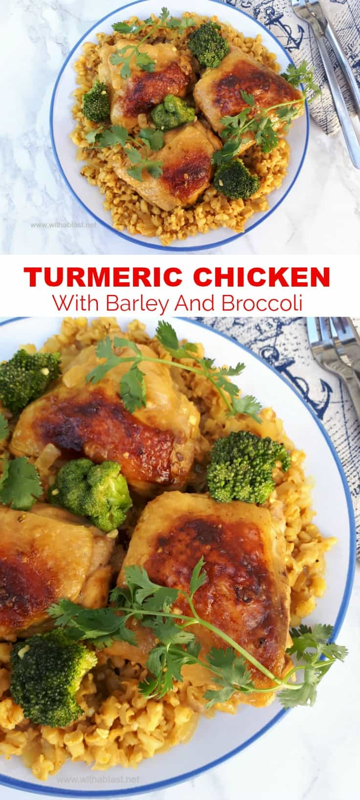 Turmeric Chicken With Barley And Broccoli