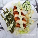 Chicken and Green Bean Salad with Blue Cheese Dressing