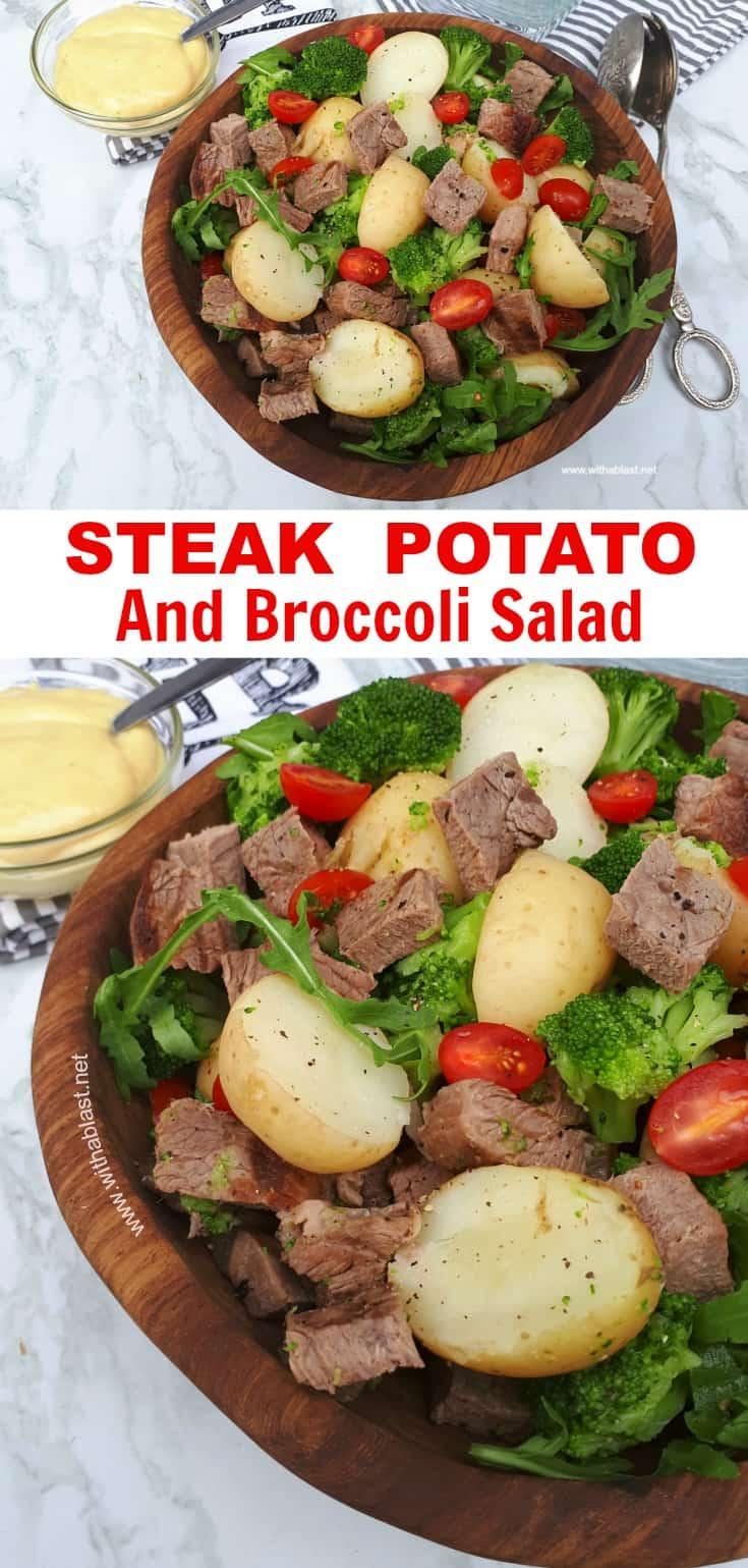Steak Potato and Broccoli Salad