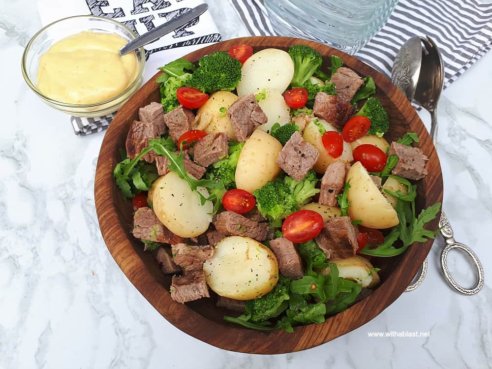 Steak Potato and Broccoli Salad