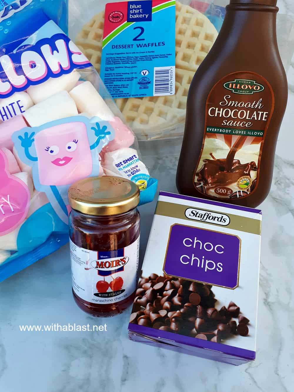 Waffle S'mores For Dessert - Ingredients