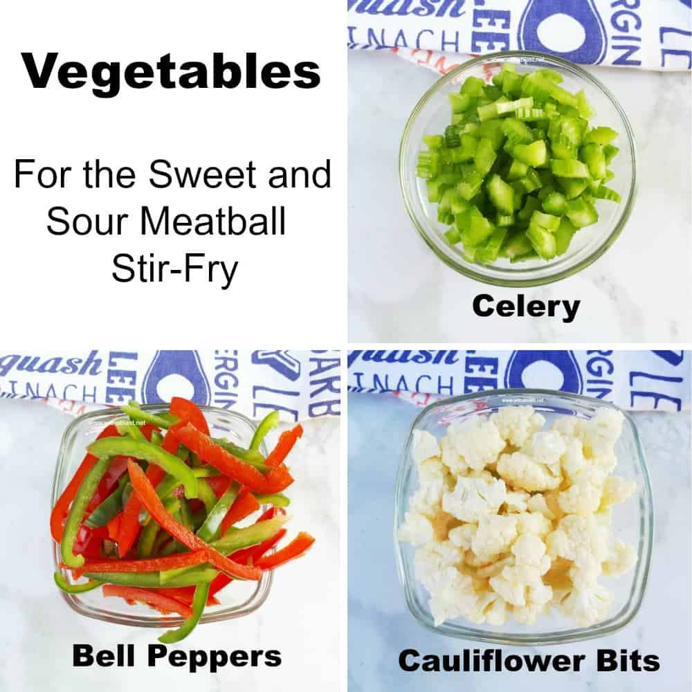 Sweet and Sour Meatball Stir-Fry (Saucy!) - Ingredients