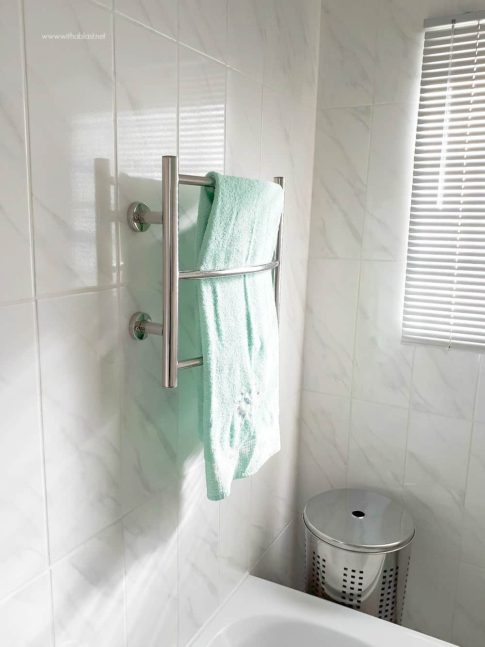 Bathroom Makeover with Heated Towel Rail