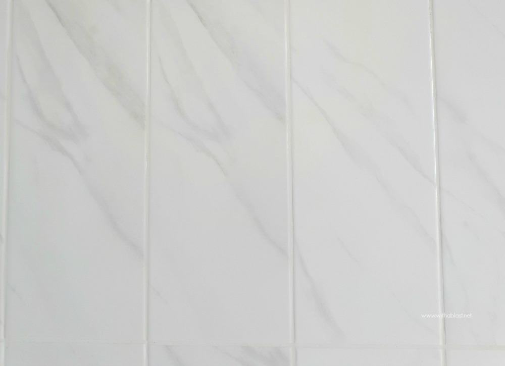 Bathroom Makeover - marble wall tiles