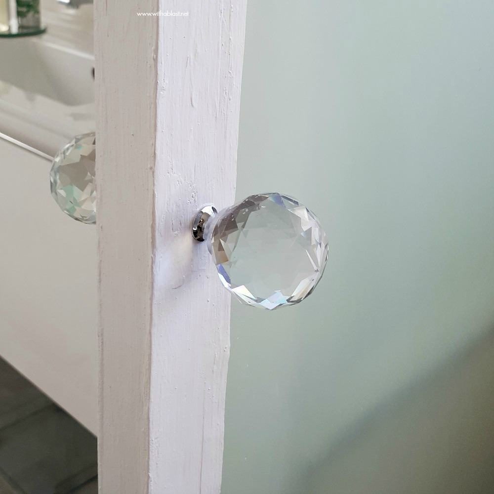 Bathroom Makeover [glass door knob]