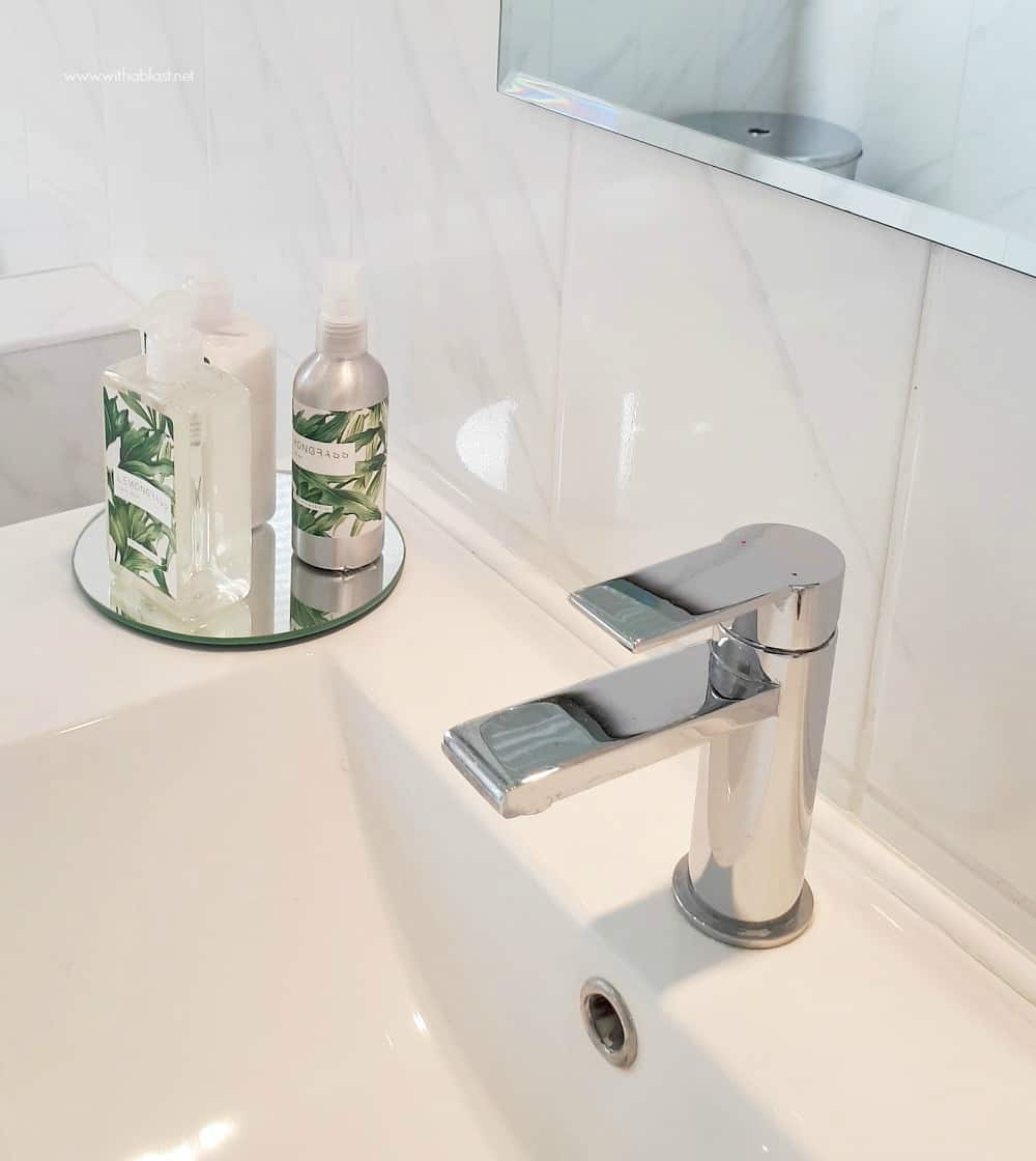 Bathroom Makeover - vignette and basin tap