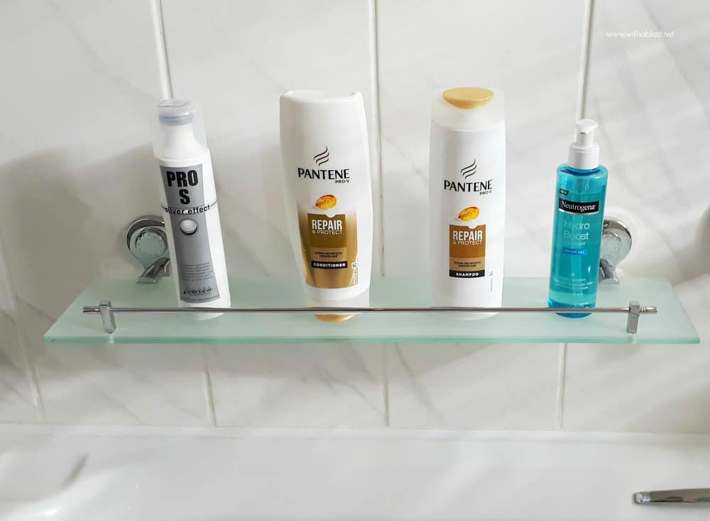 Bathroom Makeover - bath shelf