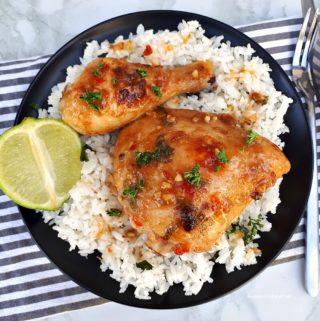 Easy Baked Thai Chicken