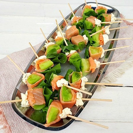 Smoked Salmon Wrapped Skewers