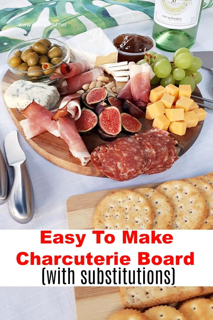 How to make an Easy Charcuterie Board (Cheese Board) within minutes, which you can customize with ingredients you prefer or suits the occasion #ChartecurieBoard #ChartecuriePlate #EasyCheeseBoard