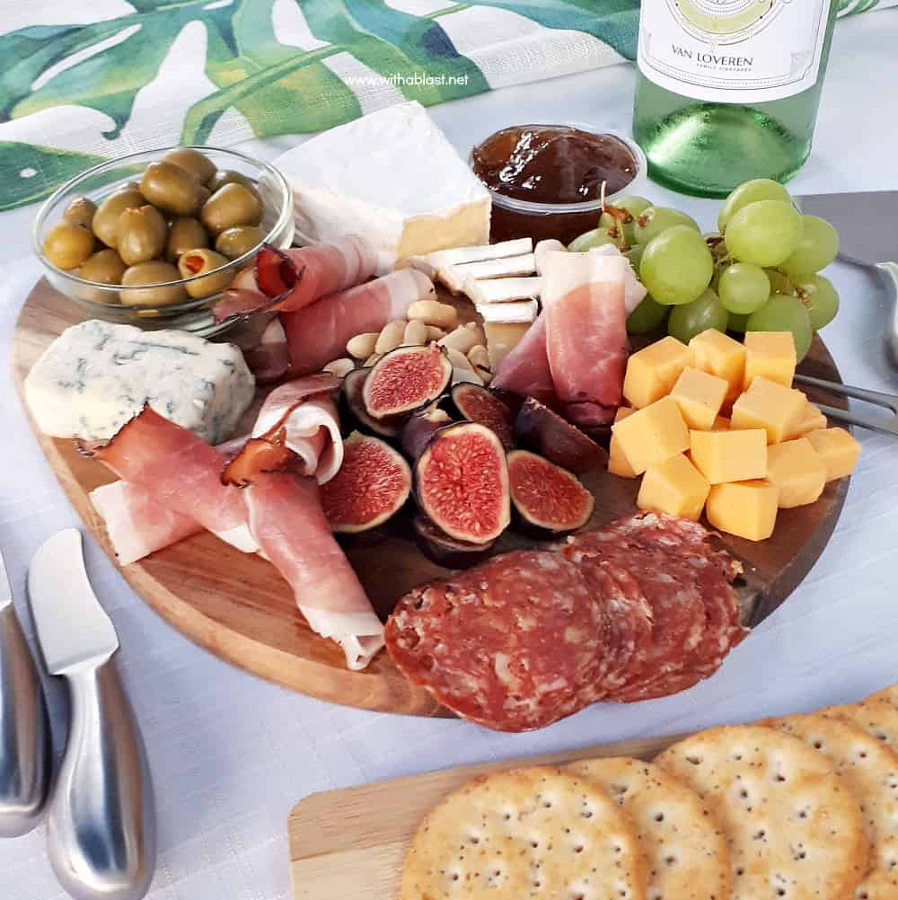 How to make an Easy Charcuterie Board (Cheese Board) within minutes, which you can customize with ingredients you prefer or suits the occasion