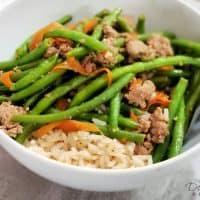 Ground Turkey and Green Beans Stir Fry