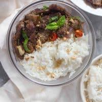 Easy Thai Beef Stir Fry Meal Prep