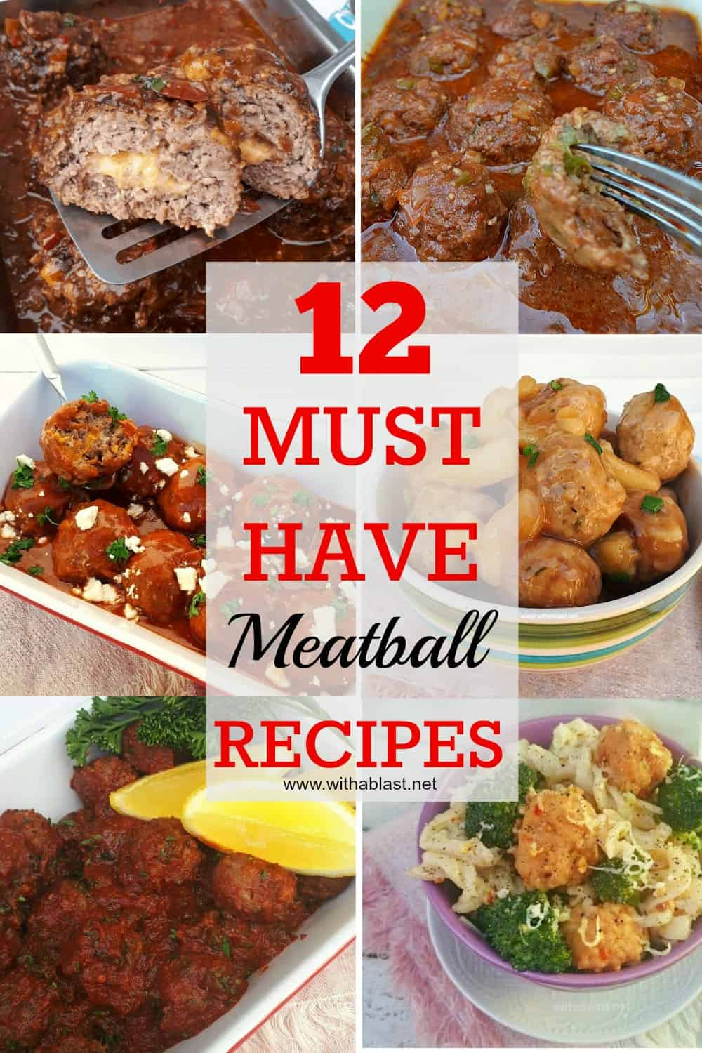Check out these Meatball Recipes ! So perfect to serve throughout all the seasons. Most recipes can be served as not only a main meal but as an appetizer as well
