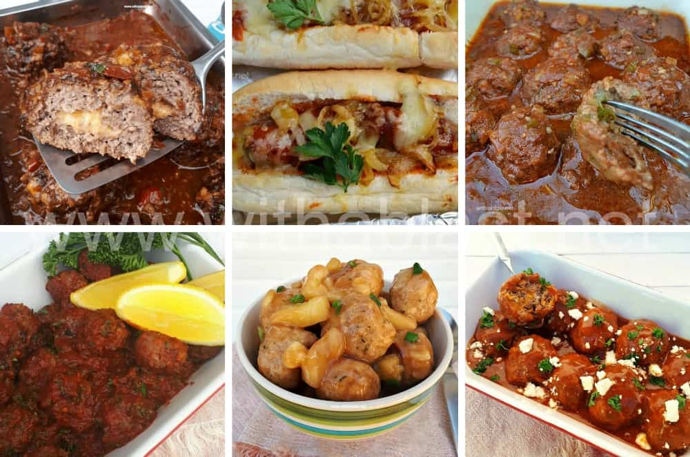 Meatball Recipes perfect to serve throughout all the seasons. Most recipes can be served as not only a main meal but as an appetizer as well