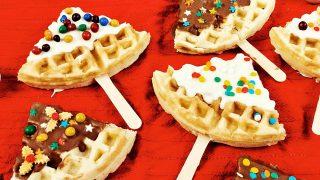 Chrstmas Tree Waffles
