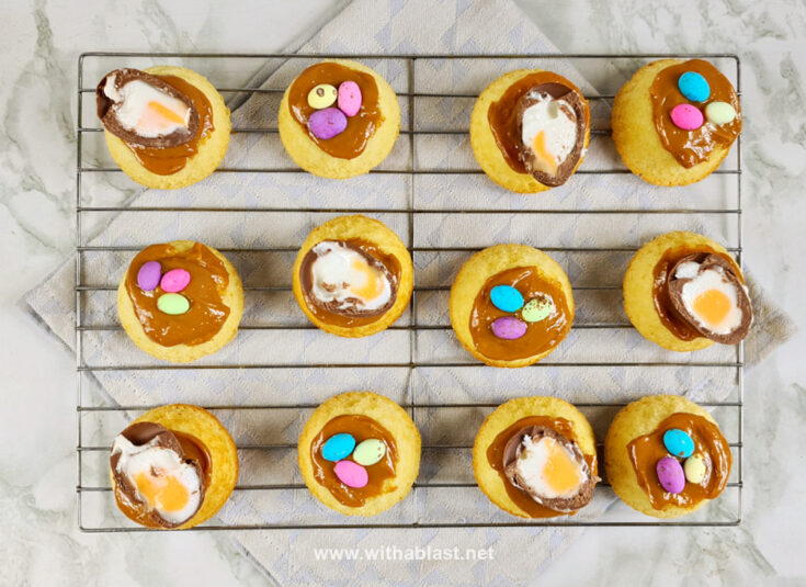 Mixed Easter Egg topped Cakes